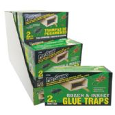 15 of PEST GUARD GLUE TRAPS 2 PK ROACH AND INSECT IN DISPLAY