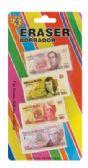 36 of ERASER 4 PC MEXICAN MONEY DESIGN