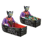 Inflatable Vampire & Coffin Cooler holds apprx 48 12-Oz cans
