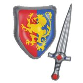 """6 of Inflatable Sword & Shield Set 25"""" & 15"""""""