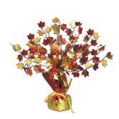 "12 of Fall Leaves Gleam 'N Burst Centerpiece 15"""