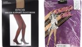 60 of Sheer Support Pantyhose - Jet Black - Petite & Medium - Closeout