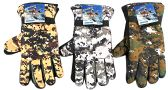 36 of Men's Camouflage Ski Gloves w/ Grips