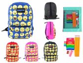 "24 of 17"" Classic Emoji PureSport Backpack & Elementary School Supply Kit Sets"