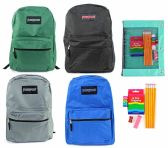 "24 of 15"" Classic PureSport Backpack & Elementary School Supply Kit Sets"