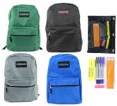 "24 of 15"" Classic PureSport Backpack & High School Supply Kit Sets"