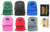 "24 of 17"" Classic PureSport Backpack & High School Supply Kit Sets"