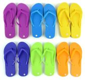 48 of Women's Flip Flops - Solid Colors