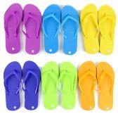 48 of Children's Flip Flops - Solid Colors