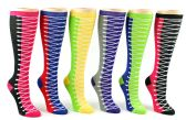 24 of Women's Knee High Novelty Socks - Sneaker Print - Size 9-11