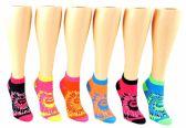 24 of Toddler Girl's Low Cut Novelty Socks - Tie Dye Print - Size 2-4