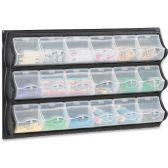 9 of Safco 18-Pocket Panel Bins