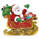 12 of Santa In Sleigh Cutout prtd 2 sides