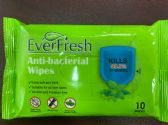 144 of EverFresh 10 Pack Anti-Bacterial Wipes, Kills 99% Of Germs