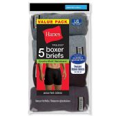 120 of Hanes Mens Assorted Colors Boxer Brief Size L