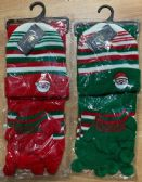 36 of Kids 3 Piece Christmas Santa Themed Winter Set , Hat Glove Scarf Ages 5-10