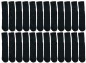 60 of Yacht & Smith Kids Black Solid Tube Socks Size 4-6 BULK PACK