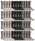 60 of Yacht & Smith Kids Sports Crew Socks, Wholesale Bulk Pack Athletic Sock Size 6-8