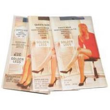 72 of Ladies Golden Legs Sheer Pantyhose In White Queen Size