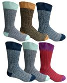 36 of Mens Premium Winter Wool Socks With Cable Knit Design