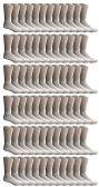 120 of SOCKSNBULK Bulk Pack Cotton Crew Socks, Size 9-11 (White)