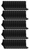 60 of Yacht & Smith Kids Value Pack of Cotton Ankle Socks Size 2-4 Black