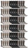 72 of SOCKSNBULK Women's Sports Crew Socks,Assorted Mix, Women (Size 9-11)