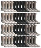 48 of SOCKSNBULK Womens Sports Crew Socks, Wholesale Bulk Pack Athletic Sock Size 9-11
