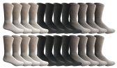 24 of SOCKSNBULKWomens Sports Crew Socks, Wholesale Bulk Pack Athletic Sock Size 9-11