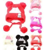 48 of Toddler Girls Boys Winter Hat Warm Knit Beanie With Ear Flaps And Pom Pom