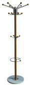 Home Basics Coat Rack with Heavy Duty Marble Base, Natural