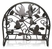 12 of Home Basics Birdsong Collection Steel Napkin Holder, Dark Brown