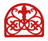 6 of Home Basics Cast Iron Fleur De Lis Napkin Holder, Red
