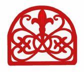 6 of Home Basics Cast Iron Fleur De Lis Napkin Holder, Red