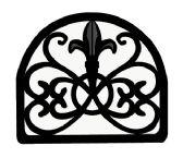 6 of Home Basics Cast Iron Fleur De Lis Napkin Holder, Black
