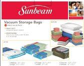 6 of Sunbeam 12 Piece Plastic Vacuum Bag