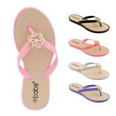 60 of Women's Rhinestone Flip Flop with Crystal Flower