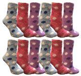 12 of Yacht & Smith Women's Fuzzy Snuggle Socks , Size 9-11 Comfort Socks Assorted Polka Dots