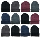 144 of Yacht & Smith Assorted Unisex Winter Warm Beanie Hats, Cold Resistant Winter Hat 144 Pack