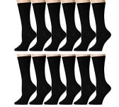 240 of Yacht & Smith Ladies Thin Cotton Black Crew Socks, Size 9-11