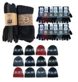 180 of Yacht & Smith Mens 3 Piece Winter Care Set, Fleece Hat, Thermal Sock, Snow Flake Glove