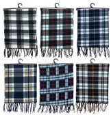 144 of Yacht & Smith Plaid Color Warm Winter Fleece Scarves 144 Pack
