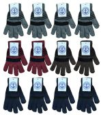 240 of Yacht & Smith Unisex Winter Gloves, Magic Stretch Gloves In Assorted Stripe Colors 240 Pairs