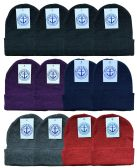 144 of Yacht & Smith Unisex Winter Knit Hat Assorted Colors 144 Pack