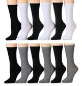 240 of Yacht & Smith Women's Thin Assorted Basic Colors Crew Socks