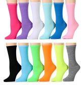 240 of Yacht & Smith Women's Thin Assorted Colors Crew Socks