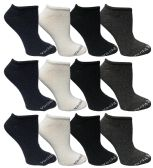 480 of Yacht & Smith Womens Cotton Low Cut No Show Loafer Socks Size 9-11 Solid Assorted BULK BUY