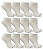 480 of Yacht & Smith Womens Cotton Low Cut No Show Loafer Socks Size 9-11 Solid White BULK BUY