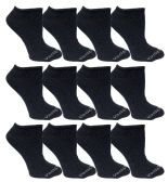480 of Yacht & Smith Womens Cotton Low Cut No Show Loafer Socks Size 9-11 Solid Navy BULK BUY