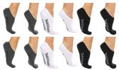 120 of Yacht & Smith Womens Cotton No Show Loafer Socks With Anti Slip Silicone Strip Black White Gray